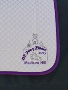 Pony Finals 2015 Souvenir Saddle Pad