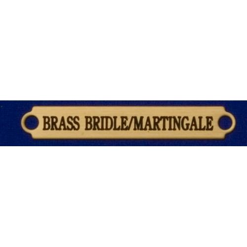 "2 1/2"" Brass Bridle/Saddle Plates"